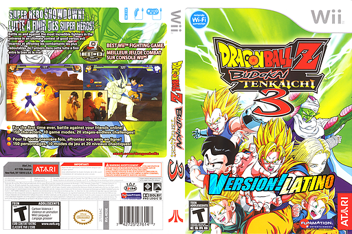 Dragon Ball Z Budokai Tenkaichi 3 Version! Latino CUSTOM cover (RDZE70)