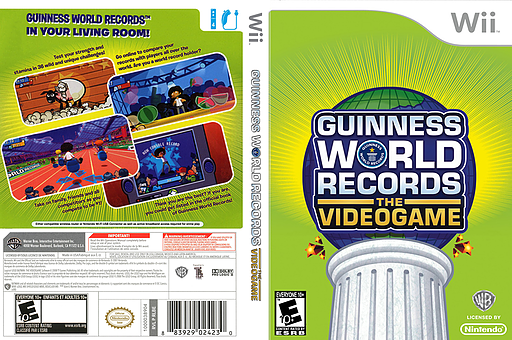 Guinness World Records: The Videogame Wii cover (RG5EWR)
