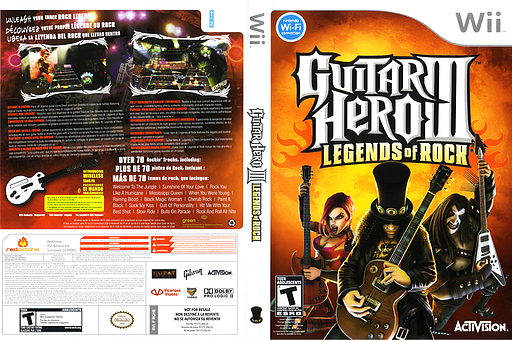 Guitar Hero III: Legends of Rock Wii cover (RGHE52)
