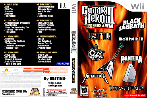 Guitar Hero III Custom : Legends of METAL CUSTOM cover (RGHE69)