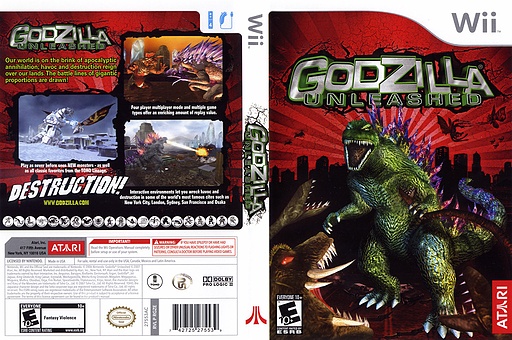 Godzilla Unleashed Wii cover (RGZE70)