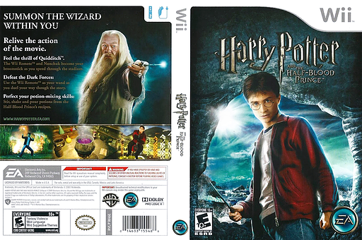 Harry Potter and the Half-Blood Prince Wii cover (RH6E69)