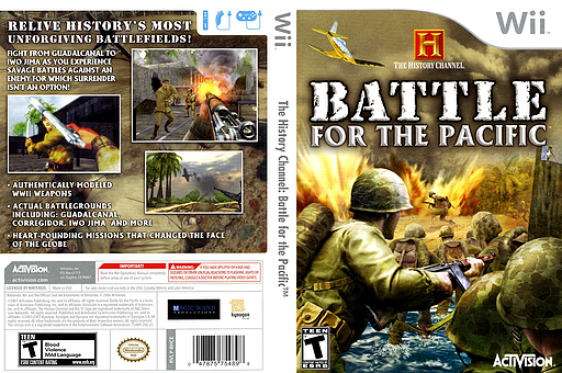 The History Channel: Battle for the Pacific Wii cover (RHCE52)