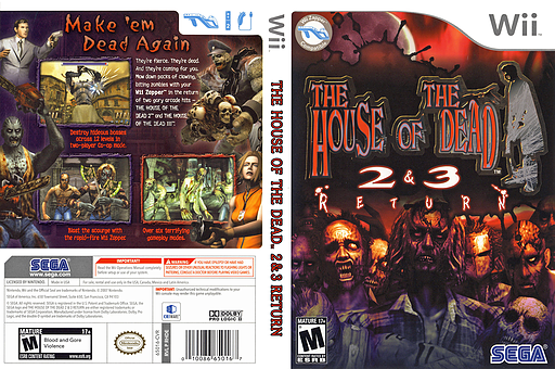 The House of the Dead 2 & 3 Return Wii cover (RHDE8P)