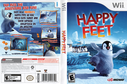 Happy Feet Wii cover (RHFE5D)