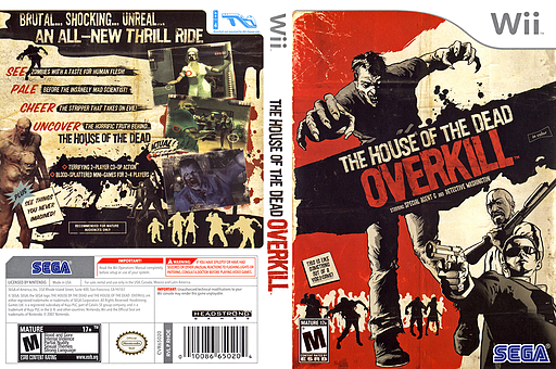 The House of the Dead: Overkill Wii cover (RHOE8P)