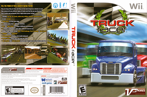 Truck Racer Wii cover (RIKEQH)
