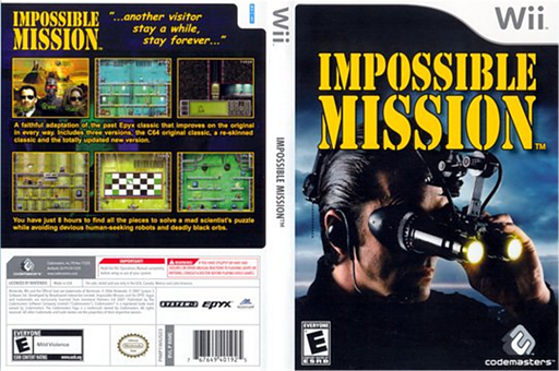 Impossible Mission Wii cover (RIME36)