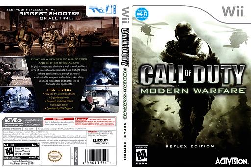 Call of Duty: Modern Warfare - Reflex Edition Wii cover (RJAE52)