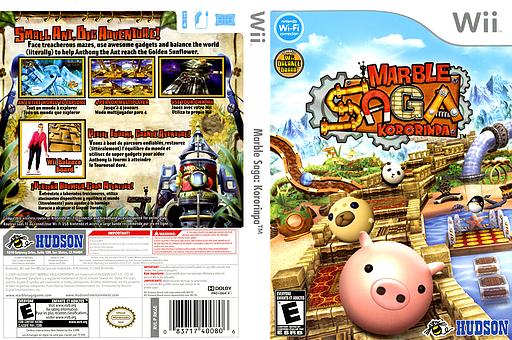 Marble Saga: Kororinpa Wii cover (RK6E18)