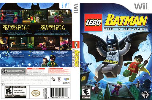 LEGO Batman: The Videogame Wii cover (RLBEWR)