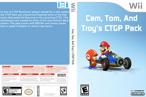 Cam, Tom and Troy's CTGP Pack CUSTOM cover (RMCE75)