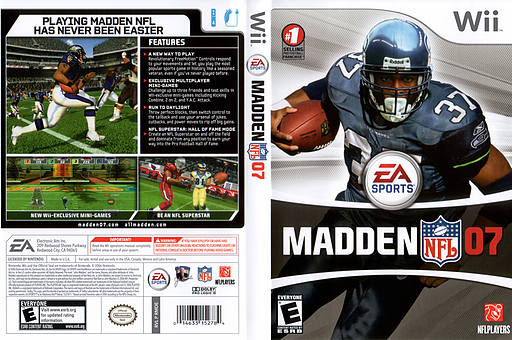 Madden NFL 07 Wii cover (RMDE69)