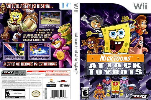 Nicktoons: Attack of the Toybots Wii cover (RN3E78)