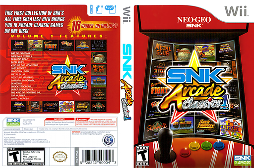 SNK Arcade Classics Volume 1 Wii cover (RNCEH4)