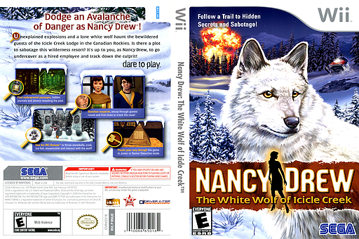 Nancy Drew: The White Wolf of Icicle Creek Wii cover (RNUE8P)