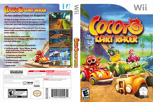 Cocoto Kart Racer Wii cover (ROCE5Z)