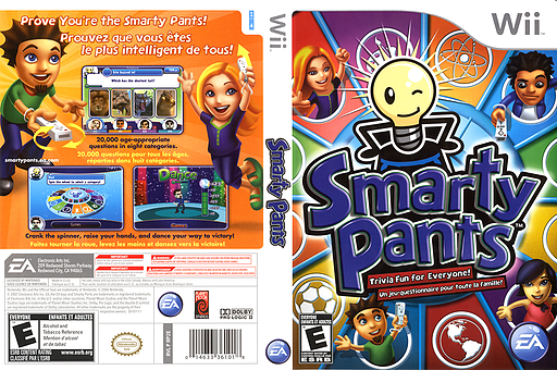 Smarty Pants Wii cover (RP2E69)
