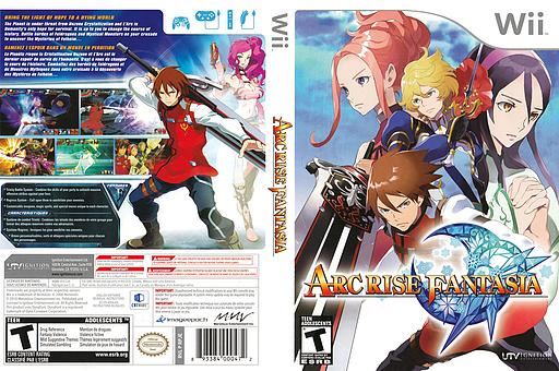 Arc Rise Fantasia Wii cover (RPJE7U)