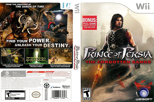 Prince of Persia: The Forgotten Sands Wii cover (RPWZ41)