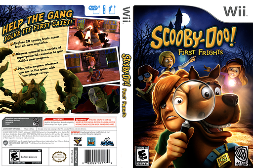 Scooby-Doo! First Frights Wii cover (RQNEWR)