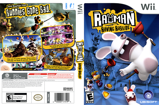 Rayman Raving Rabbids Wii cover (RRBE41)