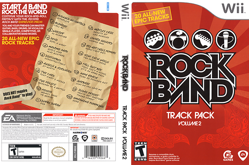 Rock Band Track Pack: Vol. 2 Wii cover (RRDE69)