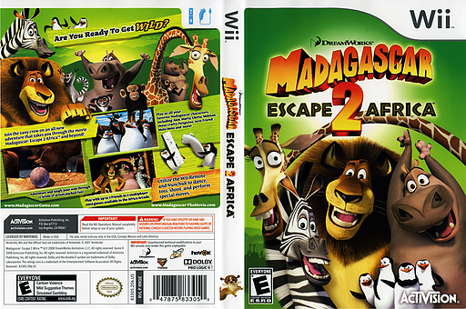 Madagascar: Escape 2 Africa Wii cover (RRGE52)