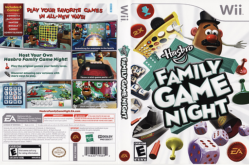 Hasbro: Family Game Night Wii cover (RRME69)