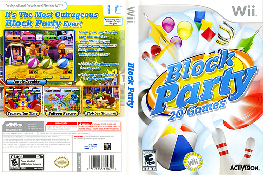 Block Party 20 Games Wii cover (RRTE52)