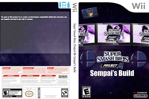 Super Smash Bros. Project M: Sempai's Build CUSTOM cover (RSBE32)
