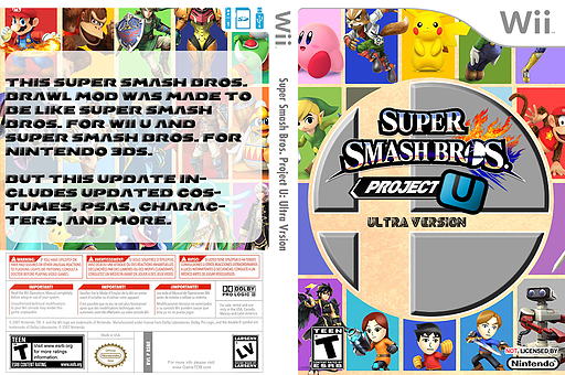 Super Smash Bros. Project U: Ultra Version CUSTOM cover (RSBE50)