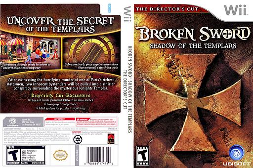 Broken Sword: Shadow of the Templars (Director's Cut) Wii cover (RSJE41)