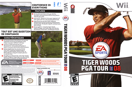Tiger Woods PGA Tour 08 Wii cover (RT8E69)