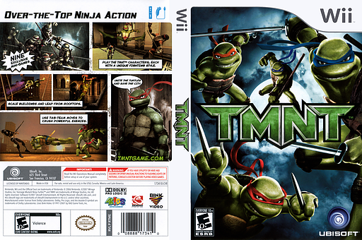 TMNT Wii cover (RTME41)