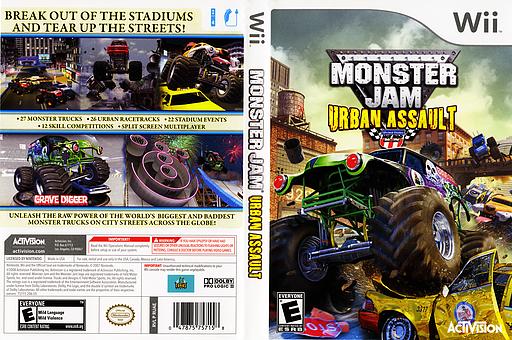Monster Jam: Urban Assault Wii cover (RUAE52)
