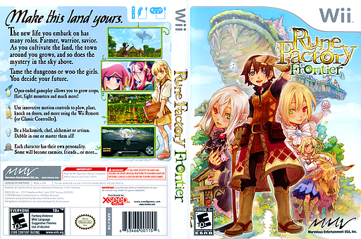 Rune Factory: Frontier Wii cover (RUFEMV)