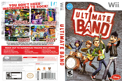 Ultimate Band Wii cover (RULE4Q)