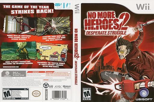 No More Heroes 2: Desperate Struggle Wii cover (RUYE41)