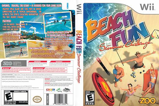 Beach Fun: Summer Challenge Wii cover (RV8E20)