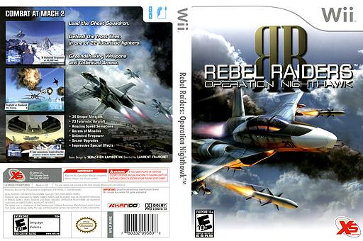 Rebel Raiders: Operation Nighthawk Wii cover (RVREFS)