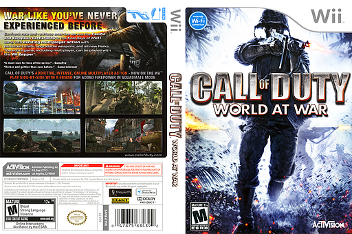 Call of Duty: World at War Wii cover (RVYE52)