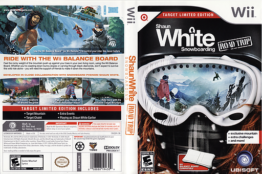 Shaun White Snowboarding: Road Trip - Target Limited Edition Wii cover (RW7E41)