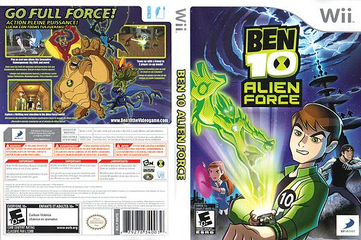 Ben 10: Alien Force Wii cover (RWTEG9)