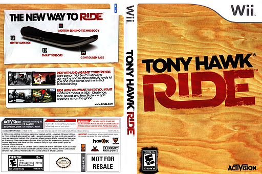 Tony Hawk: Ride Wii cover (RX5E52)