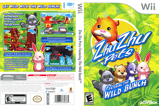 Zhu Zhu Pets: Featuring The Wild Bunch Wii cover (S2ZE52)