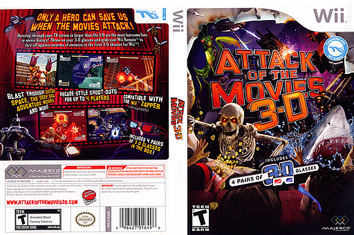 Attack of the Movies 3D Wii cover (S3AE5G)