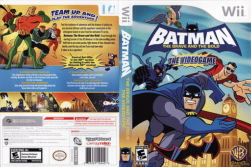 Batman: The Brave and the Bold Wii cover (S3BEWR)