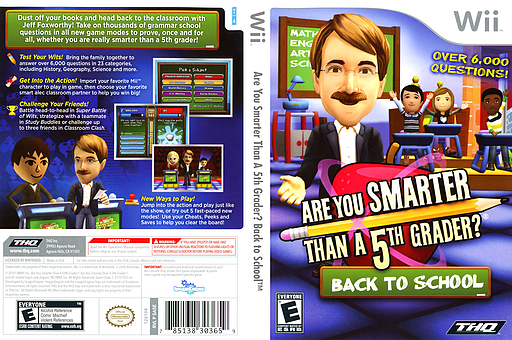 Are You Smarter Than A 5th Grader? Back to School Wii cover (SA5E78)