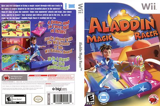 Aladdin Magic Racer Wii cover (SARE4Z)
